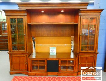 6320-149 Cherry T.V Wall Unit with Adjustable Center
