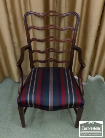 6320-156Z - 8 Potthast Solid Mahogany Ribbon Back Dining Chairs