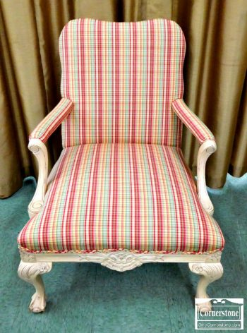 6320-175 - Upholstered Ball and Claw Chair