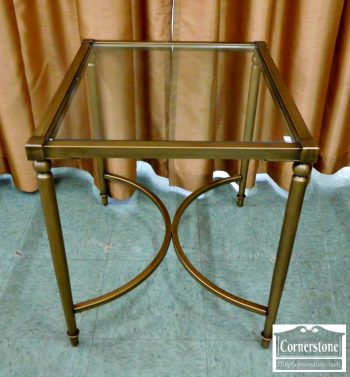 6320-184 - Glass Top End Table