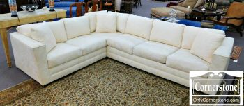 6320-19 Royal Furniture White Upholstered Sectional