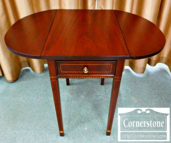 6320-215 - Potthast Solid Mahogany Hepplewhite Inlaid Pembroke Table