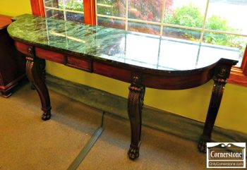 Mahogany Marble Top Console/Sideboard
