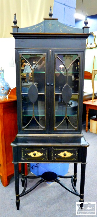 6320-29 - Black Painted Cabinet