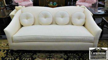 6320-307 - Ethan Allen White Upholstered Sofa