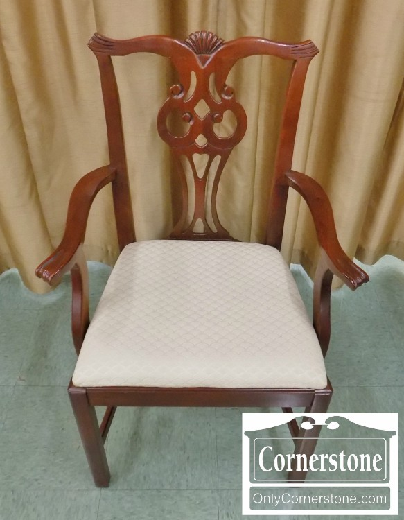 Young Hinkle Set Of 6 Solid Mahogany Chippendale Chairs