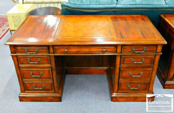 6320-333 - Hooker Distressed Cherry Executive Desk