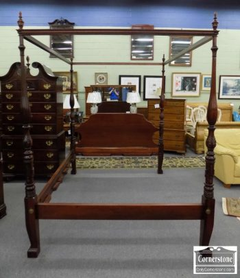 6320-407 - Solid Mahogany Queen Canopy Poster Bed