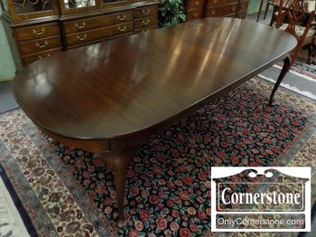 6320-448 - Henkel Harris Mahogany Queen Anne Table with 3 Leaves
