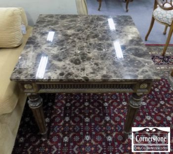 6320-467 - Marble Top End Table