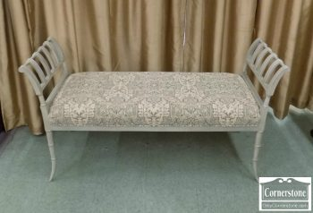 6320-469 - Hickory Chair Upholstered Bench