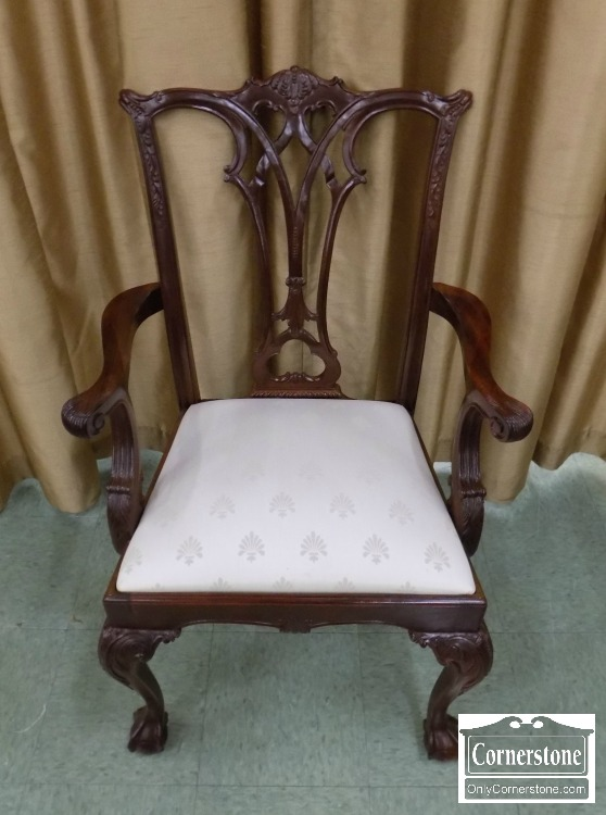 INTERESTED? - American Drew Set Of 6 Mahogany Chippendale Ball And Claw Foot