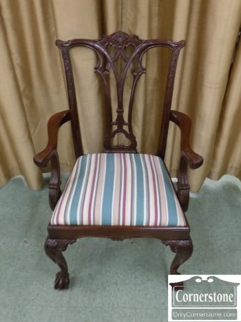 6320-486 - American Drew Mahogany Chippendale Arm Chair