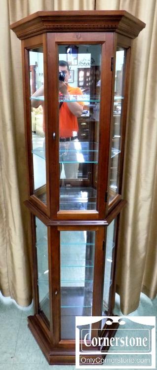 pulaski cherry tall narrow curio cabinet   baltimore, maryland