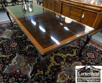 6320-509 - Stickley Mahogany Banded Table with 2 Leaves