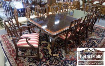 6320-546 - Set of 8 Henkel Harris Mahogany Chippendale Chairs