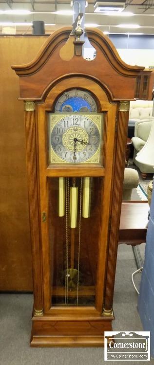 6320-549 - Ridgeway Cherry Grandfather Clock