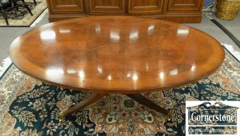 6320-553 - Hickory Chair Mahogany Oval Banded Coffee Table