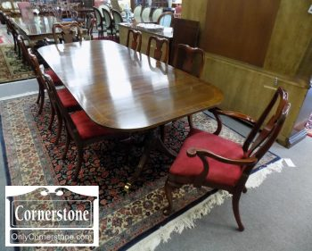6320-566 - Set of 8 Hickory Chair Mahogany Dining Room Chairs