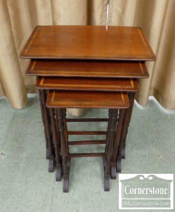 6320-605 - Set of 4 Mahogany Nesting Tables