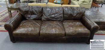 6320-638 - Restoration Hardware Leather Sofa