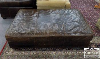 6320-639 - Restoration Hardware Leather Ottoman