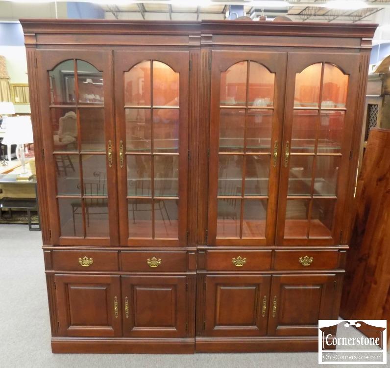 Pennsylvania House Cherry 2 Piece Bookcase / Display Cabinet ...