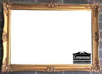 6320-717 Gold Beveled Mirror