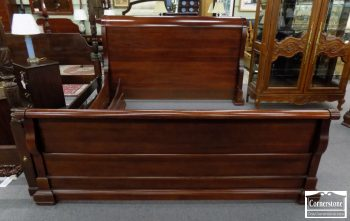 6320-736 - Broughton Hall Mahogany Sleigh Bed