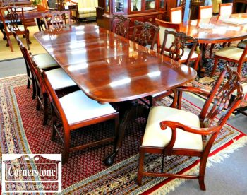 6320-74 Maitland Smith Solid Mahogany 8 Chippendale Dining Chairs