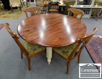 6320-740 - Ethan Allen Cherry Table with 1 Leaf & 4 Chairs