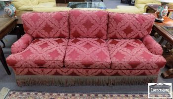 6320-747 - E. J. Victor Red Upholstered Sofa