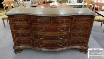 6320-756 - Mahogany Banded Dresser with Glass Top