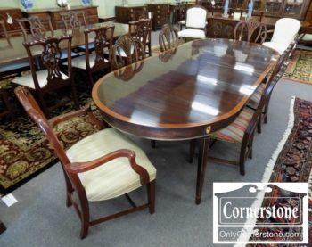 6320-768 - 6 Shieldback Mahogany Chairs with Inlay