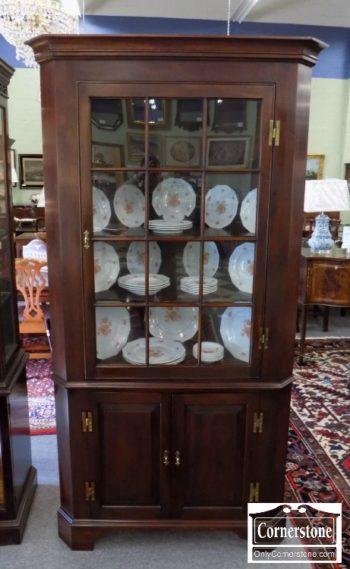 6320-770 - Henkel Harris Solid Mahogany #29 12 Pane Fairfax Corner Cabinet