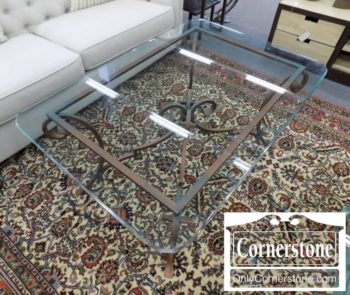 6320-853 - Labarge Glass Top Coffee Table