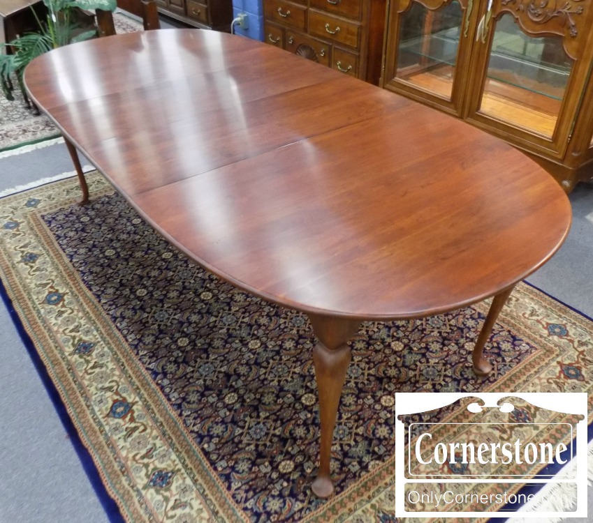 6320 930   Lexington Solid Cherry Queen Anne Table With 2 Leaves