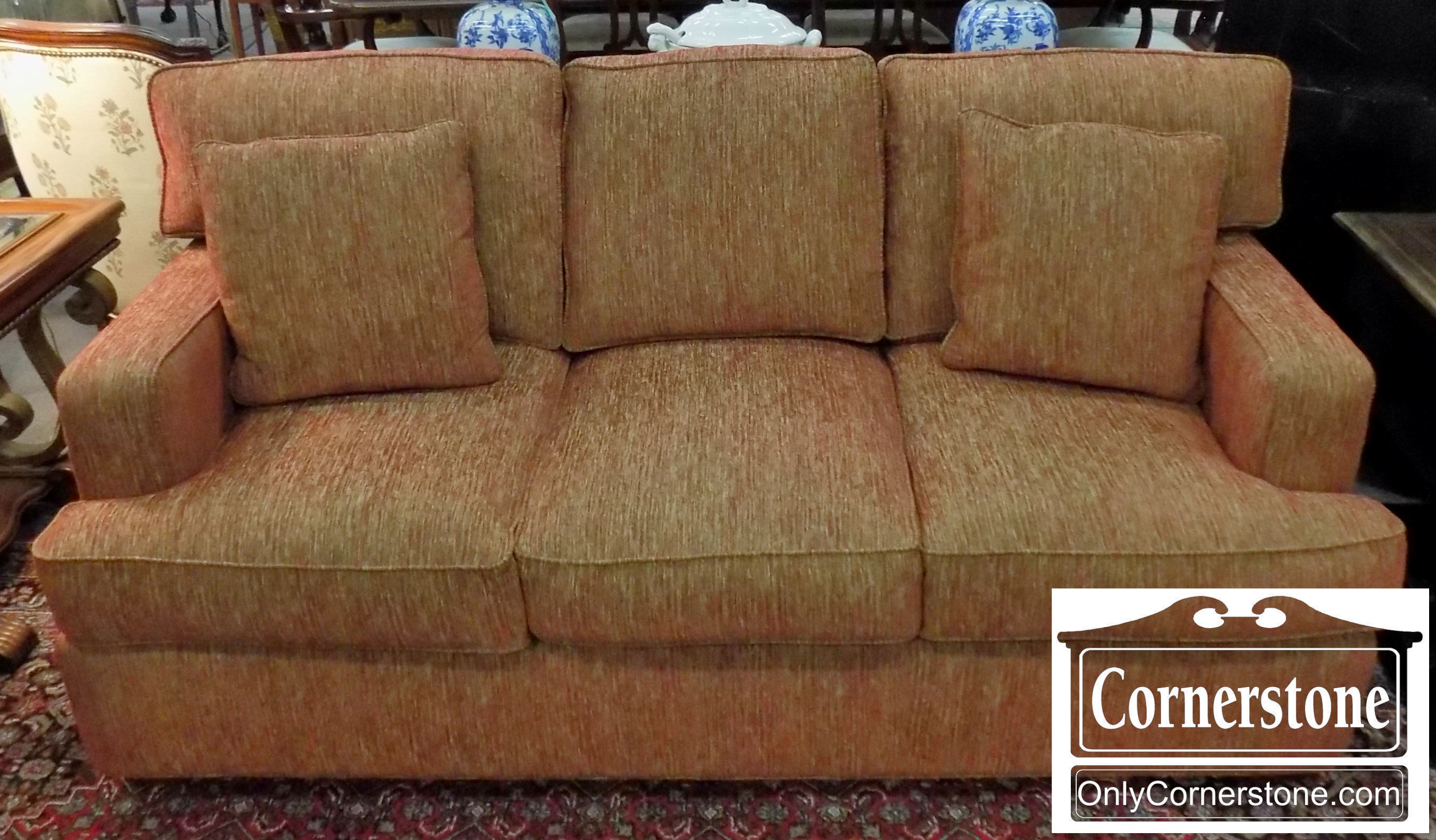Fairfield Red With Sage Colored Upholstered Sofa | Baltimore, Maryland Furniture  Store U2013 Cornerstone