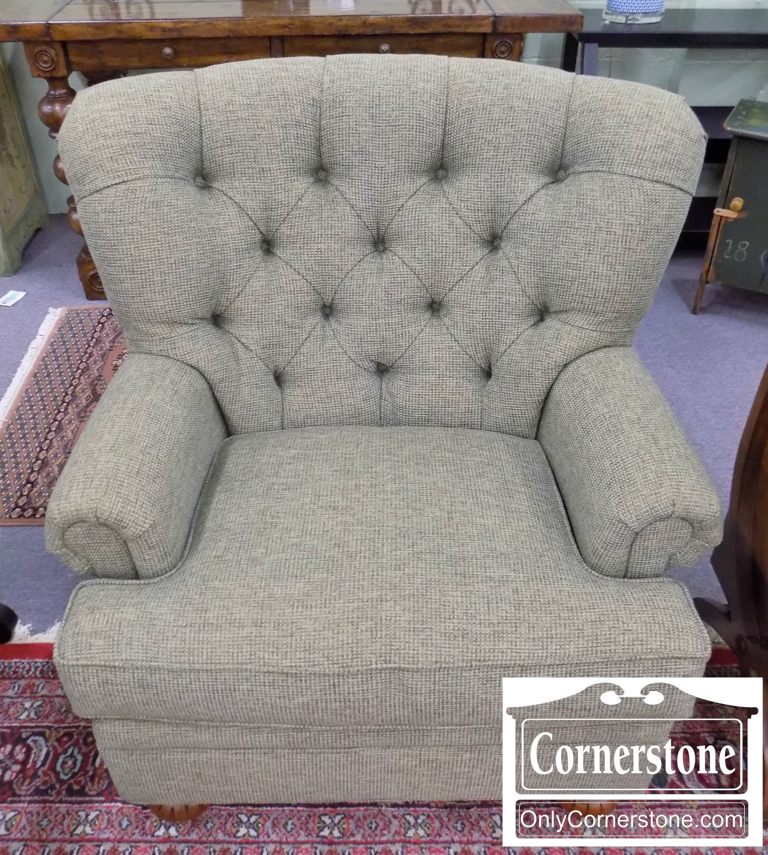 Fairfield Sage Colored Tufted Back Chair | Baltimore, Maryland Furniture  Store U2013 Cornerstone