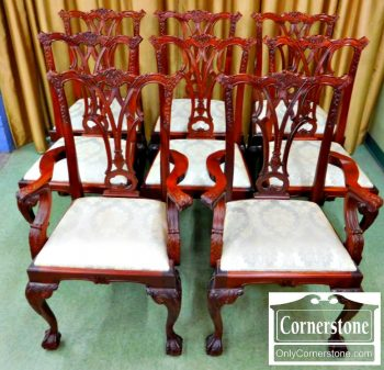 6320-97 Set of 8 Chippendale Dining room Chairs