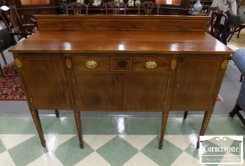 6320-990 - Potthast Solid Mahogany Inlaid Sideboard