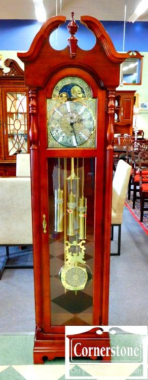 6329-6 Ridgeway Cherry Finish Tall Case Clock