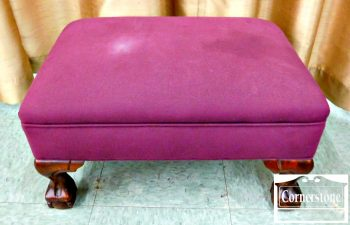 6337-2 1930's Upholstered Ottoman