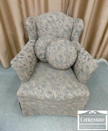 6337-3 - Green Boudoir Chair