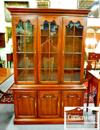 6340-1 Solid Cherry China Cabinet
