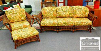 6346-1 - Acacia Bamboo Sofa, Chair, and Ottoman