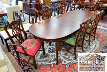 6351-1 Set of 6 Mahogany Chippendale Dining Chairs
