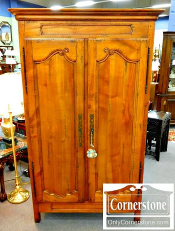6352-2 Solid Cherry French Style Bar Cabinet
