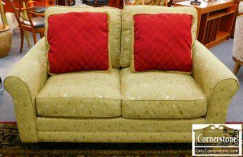 6352-6 Bassett Soft Gold Upholstered Loveseat