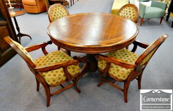 6352-7 Poker Table with 4 Chairs-2